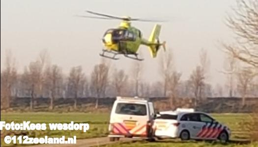 Helikopter land in `s Heer-arendskerke